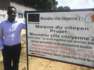 Alex, Volontaire de Solidarité Internationale pour la mairie de Moundo...